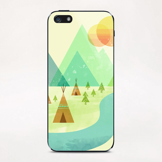 Native Lands iPhone & iPod Skin by Jenny Tiffany