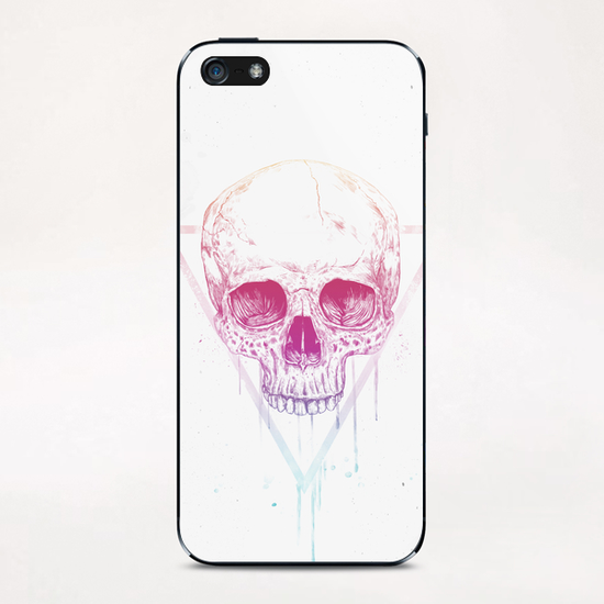 Skull in triangle iPhone & iPod Skin by Balazs Solti