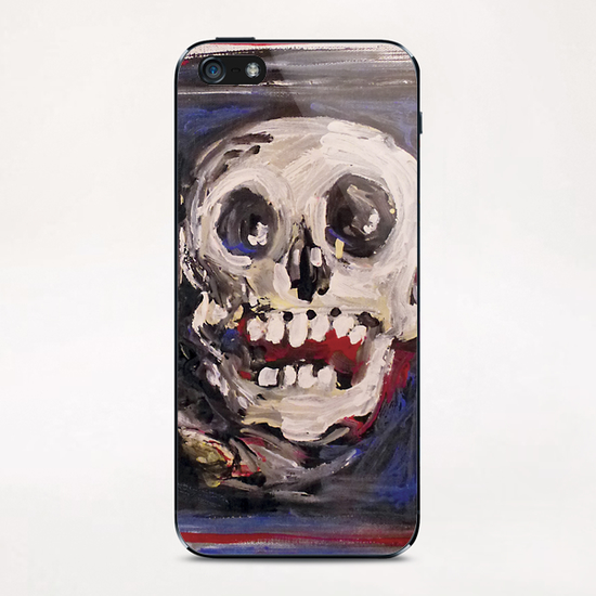 Smiling Skull iPhone & iPod Skin by Georgio Fabrello