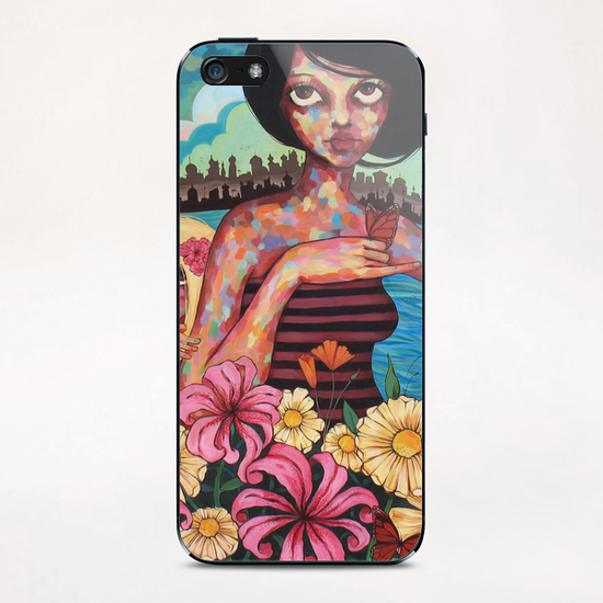 The Rising Tide of Kumari Kandem iPhone & iPod Skin by Ursula X Young