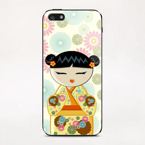 Yellow kokeshi iPhone & iPod Skin by PIEL Design