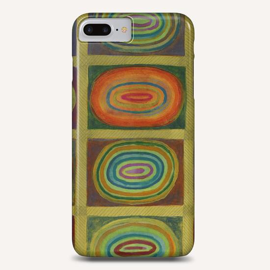 Ringed Ovals within Hatched Grid Phone Case by Heidi Capitaine