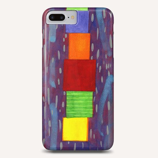 Colorful piled Cubes within free Painting Phone Case by Heidi Capitaine
