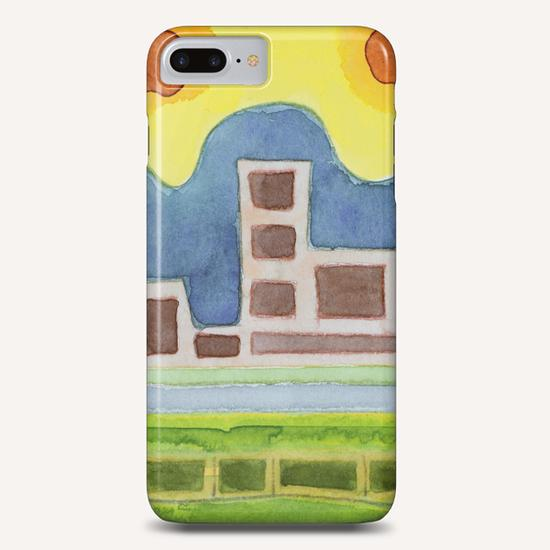 Surreal Simplified Cityscape  Phone Case by Heidi Capitaine