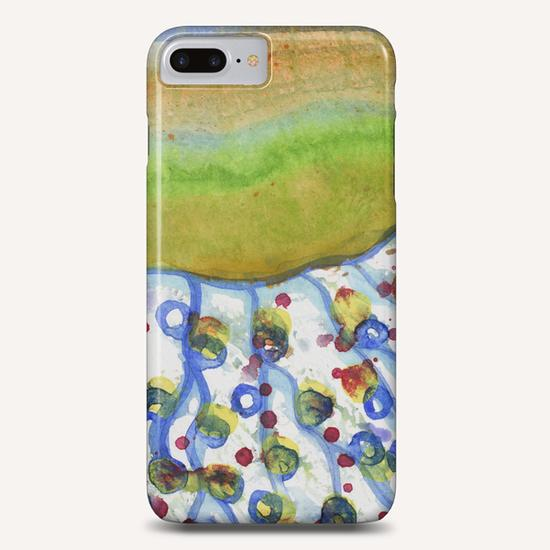 Curved Hill with Blue Rings Phone Case by Heidi Capitaine