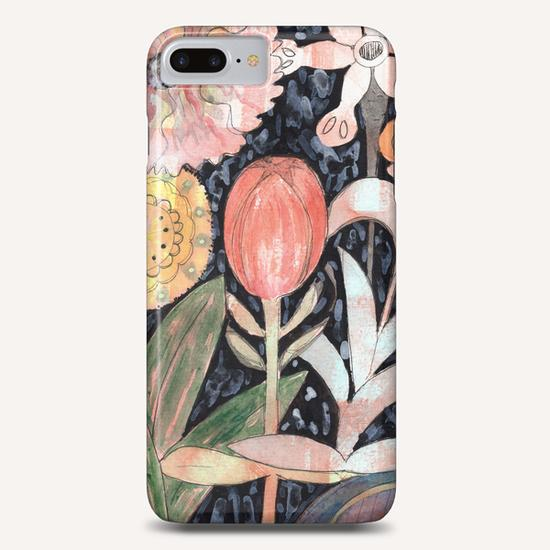 Mixed Flowers with Tulip on Black  Phone Case by Heidi Capitaine