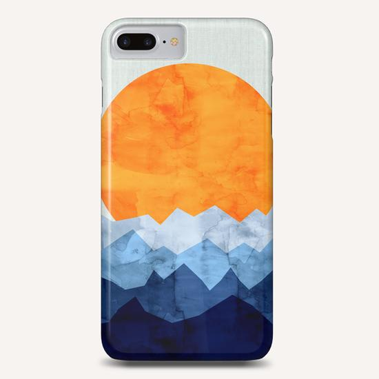 Watercolor landscape geometrica Phone Case by Vitor Costa