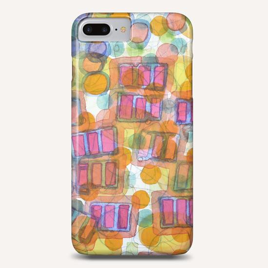 Happy Pattern with Pink Blocks Phone Case by Heidi Capitaine
