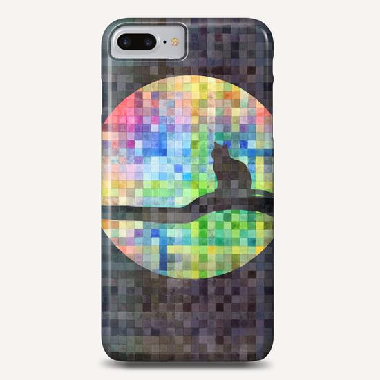Cat In The Moon II Phone Case by Vic Storia