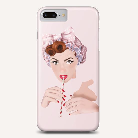 Girl pin up pink Phone Case by mmartabc