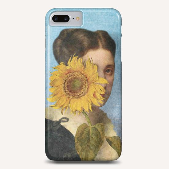 Girl with Sunflower 2 Phone Case by DVerissimo