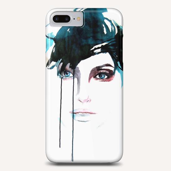 """Jeune femme bleue""   Phone Case by Virginie Rahem Ancey"