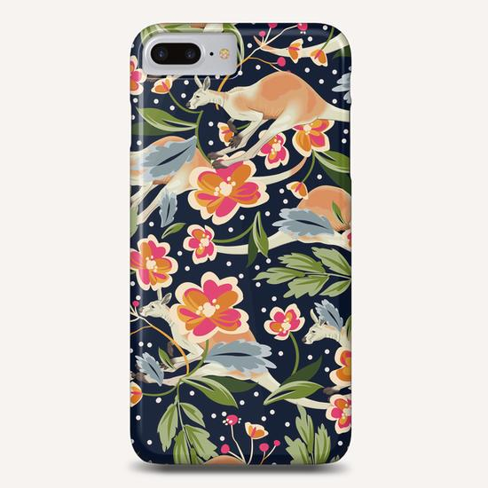 Pattern flowers and kangaroo Phone Case by mmartabc