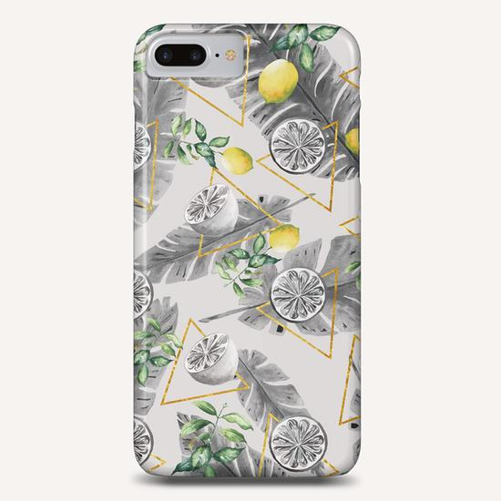 Pattern triangles with lemons Phone Case by mmartabc