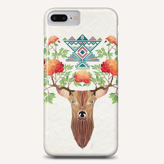 deer flowers Phone Case by Manoou