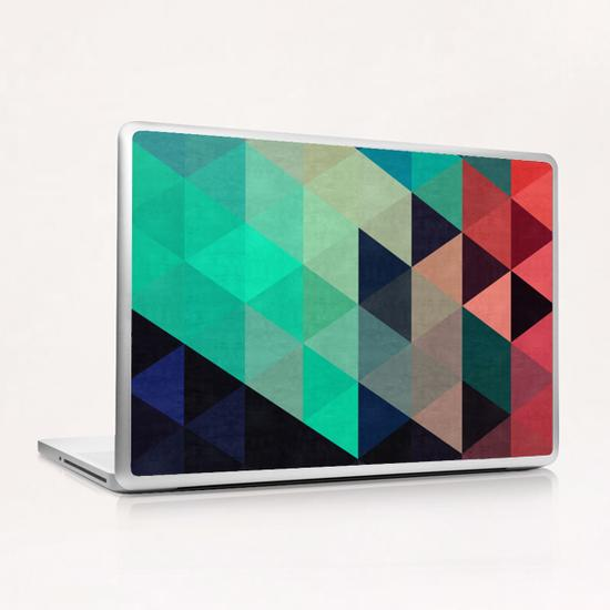 Pattern cosmic triangles I Laptop & iPad Skin by Vitor Costa