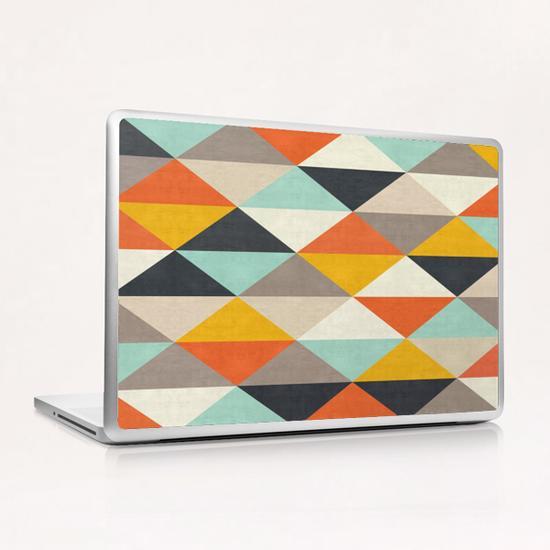 Geometric and colorful chevron Laptop & iPad Skin by Vitor Costa