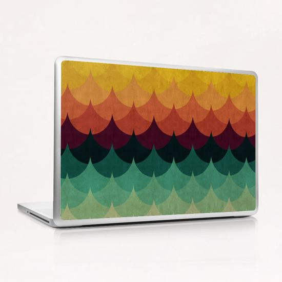 Waves at sunset Laptop & iPad Skin by Vitor Costa