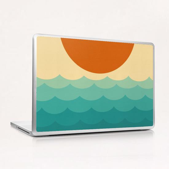 Minimalist sunset Laptop & iPad Skin by Vitor Costa