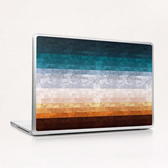 Minimalist landscape watercolor Laptop & iPad Skin by Vitor Costa