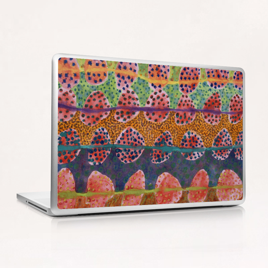 Red Round And Dotted Forms Laptop & iPad Skin by Heidi Capitaine