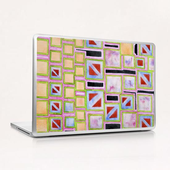 Composition out of Three Kind of Squares Laptop & iPad Skin by Heidi Capitaine