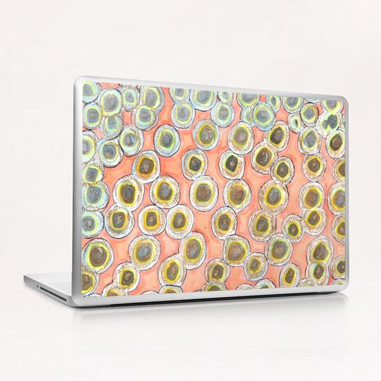 Simple Pastel Circle Pattern with Gold   Laptop & iPad Skin by Heidi Capitaine