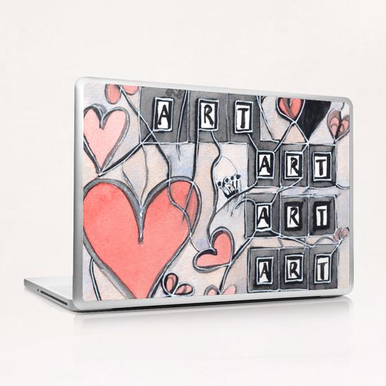 I Love Art  Laptop & iPad Skin by Heidi Capitaine