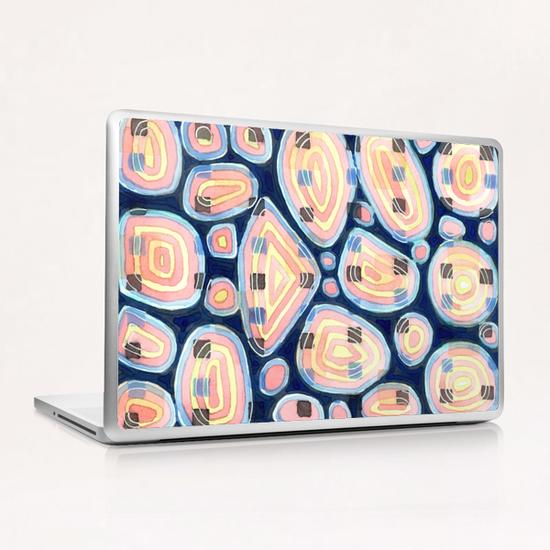 . Woven Squares and Round Shapes Pattern  Laptop & iPad Skin by Heidi Capitaine