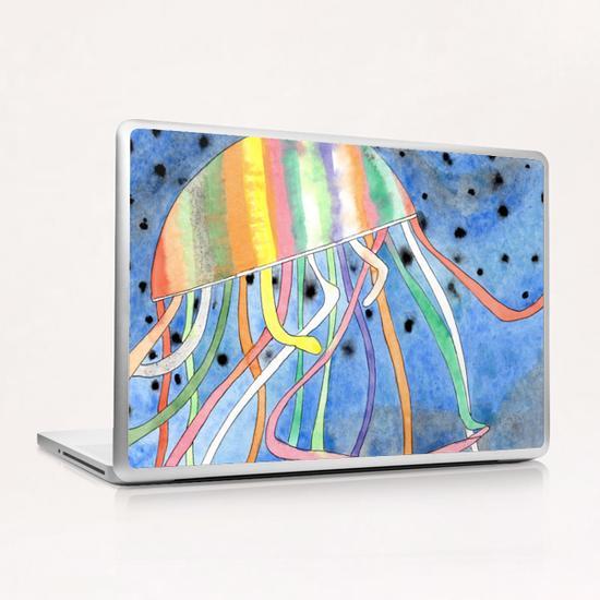 Rainbow Colored Jelly Fish  Laptop & iPad Skin by Heidi Capitaine