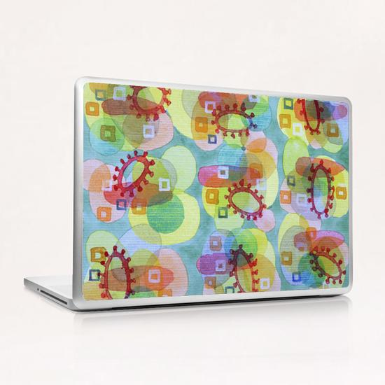 Lovely Pattern with Red Rings  Laptop & iPad Skin by Heidi Capitaine