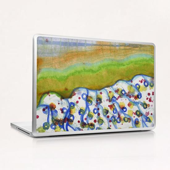 Curved Hill with Blue Rings Laptop & iPad Skin by Heidi Capitaine