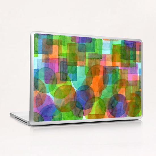 Befriended Squares and Bubbles  Laptop & iPad Skin by Heidi Capitaine