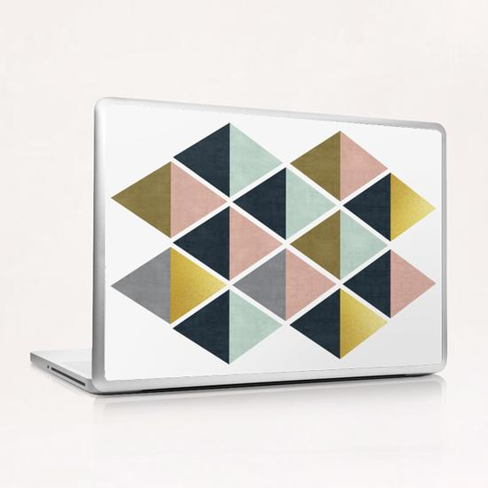Colorful and golden triangles Laptop & iPad Skin by Vitor Costa