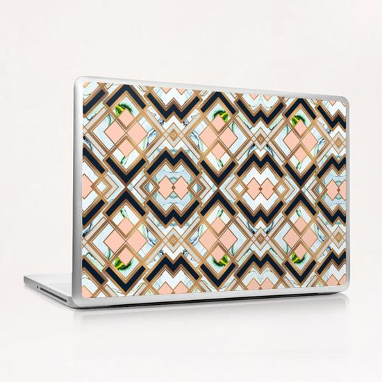 Art deco geometric pattern Laptop & iPad Skin by mmartabc