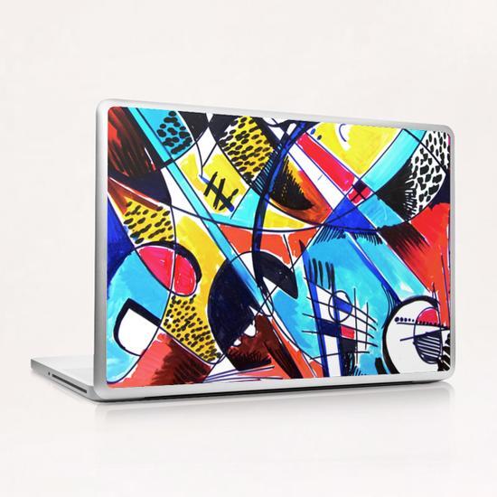 Construction rouge et bleue Laptop & iPad Skin by Denis Chobelet