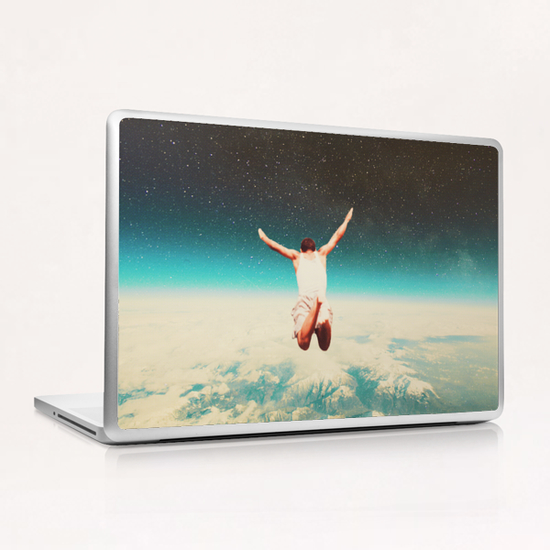 Falling With A Hidden Smile Laptop & iPad Skin by Frank Moth