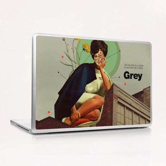Grey Laptop & iPad Skin by Frank Moth