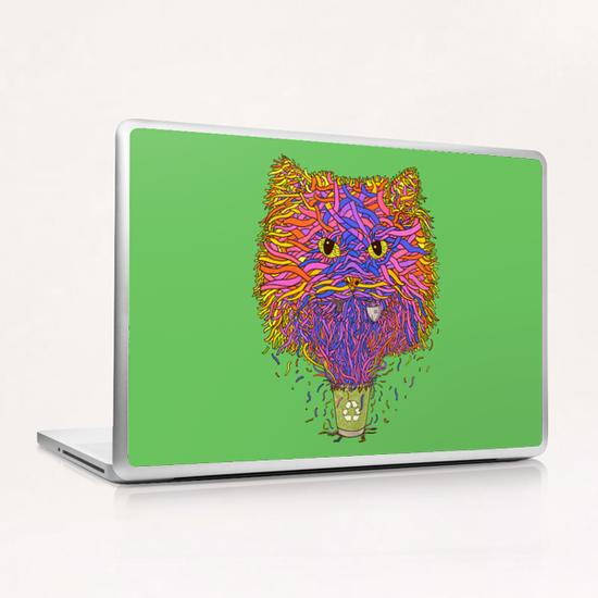 Recycle cat Laptop & iPad Skin by Tummeow