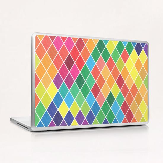 Colorful Geometric  Laptop & iPad Skin by Amir Faysal