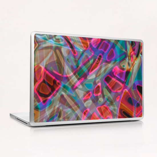 Colorful Abstract Stained Glass G9 Laptop & iPad Skin by MedusArt