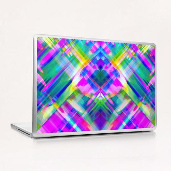 Colorful digital art splashing G469 Laptop & iPad Skin by MedusArt