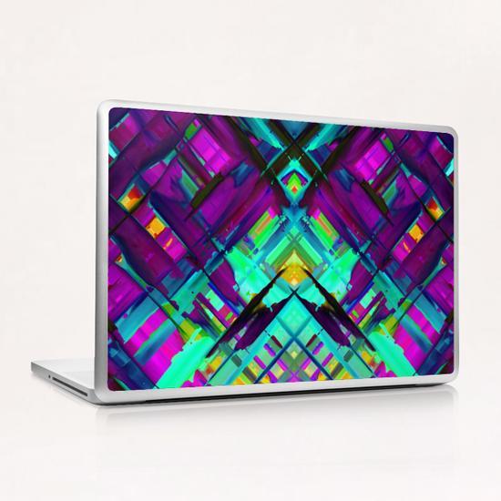 Colorful digital art splashing G472 Laptop & iPad Skin by MedusArt