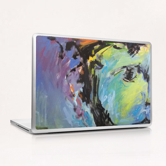 Lion Diptych - Left Laptop & iPad Skin by Georgio Fabrello