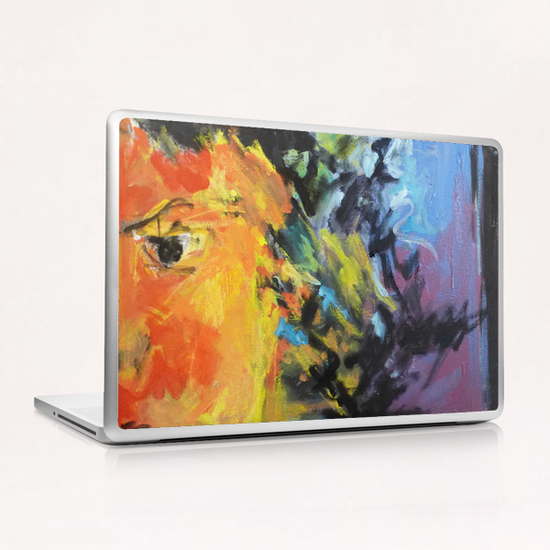Lion Diptych - Right Laptop & iPad Skin by Georgio Fabrello