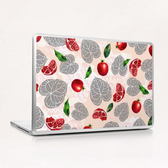 Love leaves with fruits Laptop & iPad Skin by mmartabc