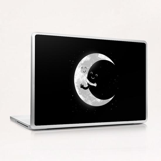 Moon Hug Laptop & iPad Skin by carbine