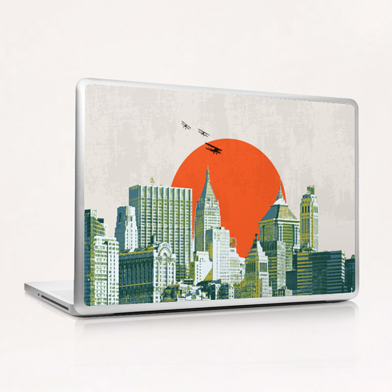 Red sun on NY Laptop & iPad Skin by tzigone