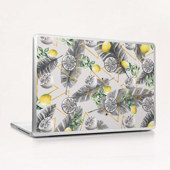 Pattern triangles with lemons Laptop & iPad Skin by mmartabc