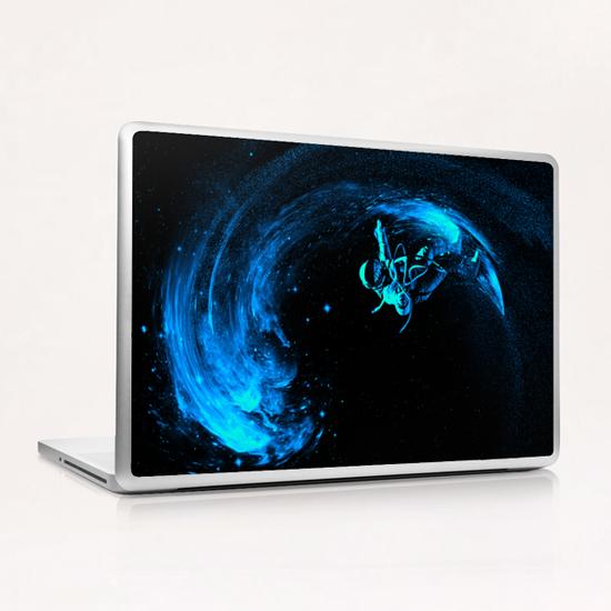 Space Surfing Laptop & iPad Skin by Nicebleed